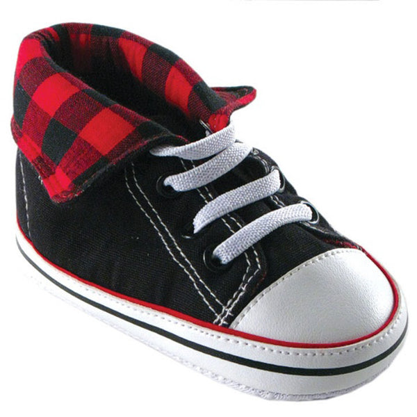 Luvable Friends Crib Shoes, Red Hi Top
