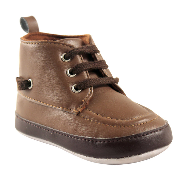 Luvable Friends Crib Shoes, Brown