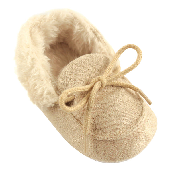 Luvable Friends Moccasin Shoes, Beige