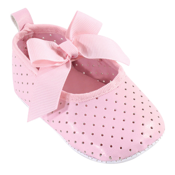 Luvable Friends Crib Shoes, Light Pink