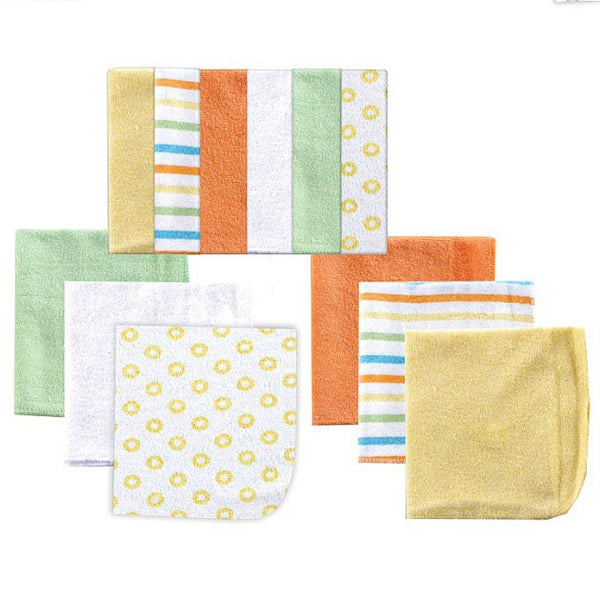 Luvable Friends Cotton Rich Washcloths, Yellow