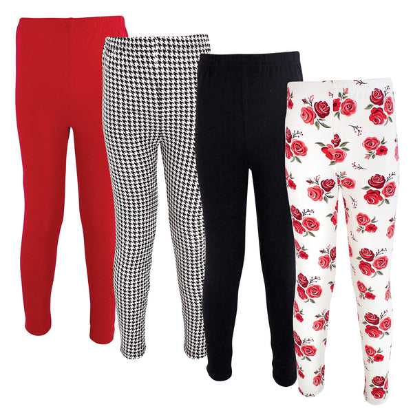 Hudson Baby Cotton Pants and Leggings, Red Rose