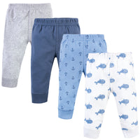 Hudson Baby Cotton Pants and Leggings, Blue Whales