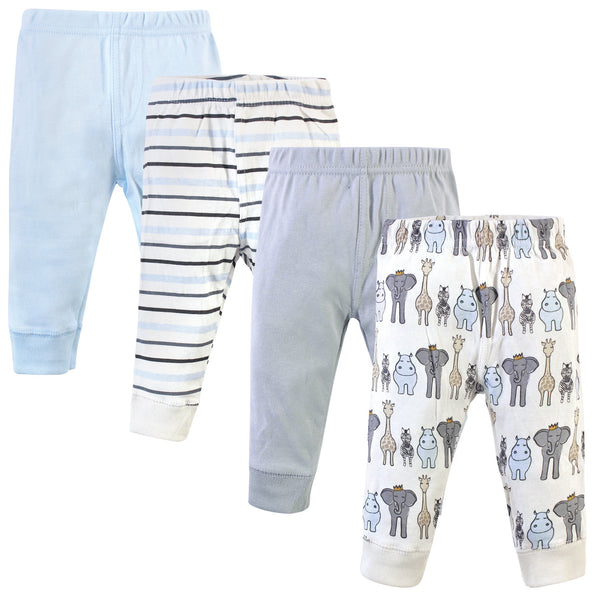Hudson Baby Cotton Pants and Leggings, Royal Safari
