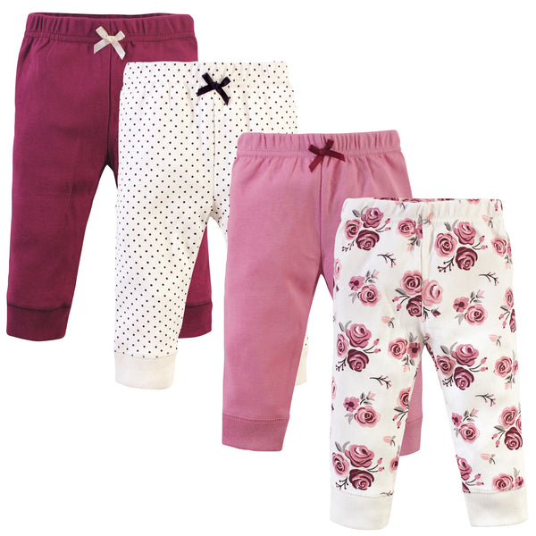 Hudson Baby Cotton Pants and Leggings, Rose