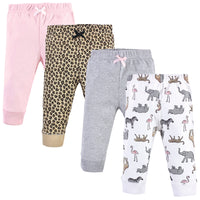Hudson Baby Cotton Pants and Leggings, Modern Pink Safari