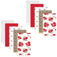 Hudson Baby Quilted Burp Cloths, Rose Leopard