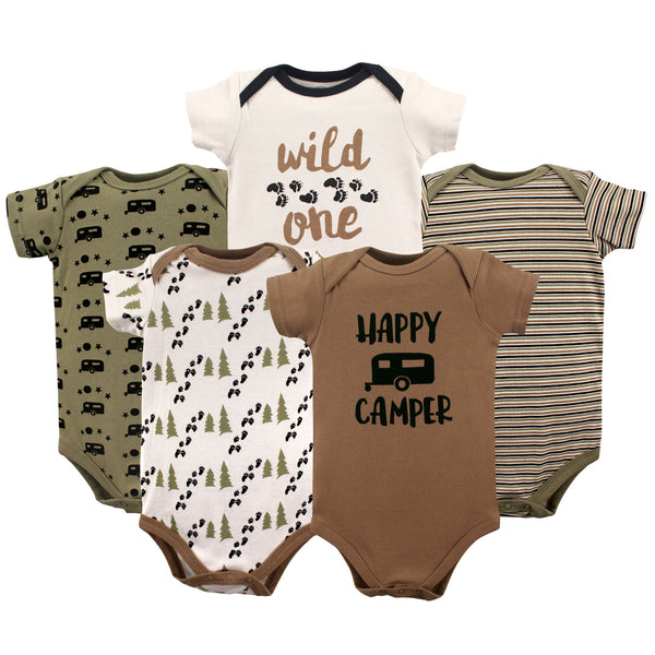 Luvable Friends Cotton Bodysuits, Happy Camper