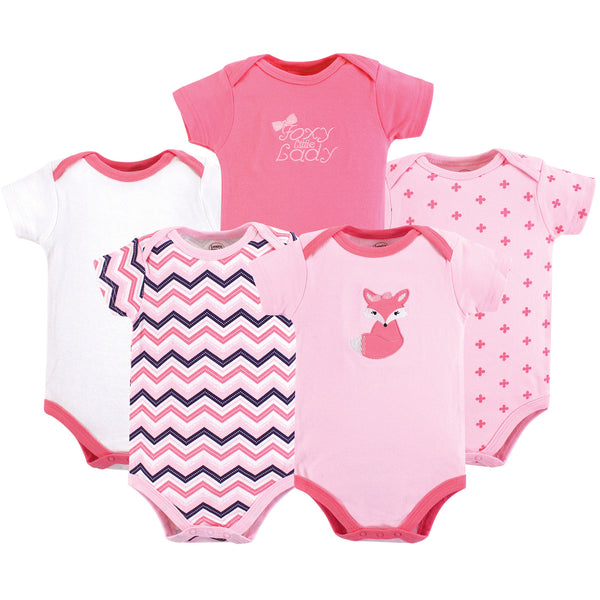 Luvable Friends Cotton Bodysuits, Foxy