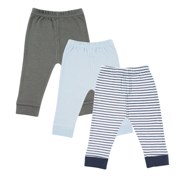 Luvable Friends Cotton Pants, Navy Stripe