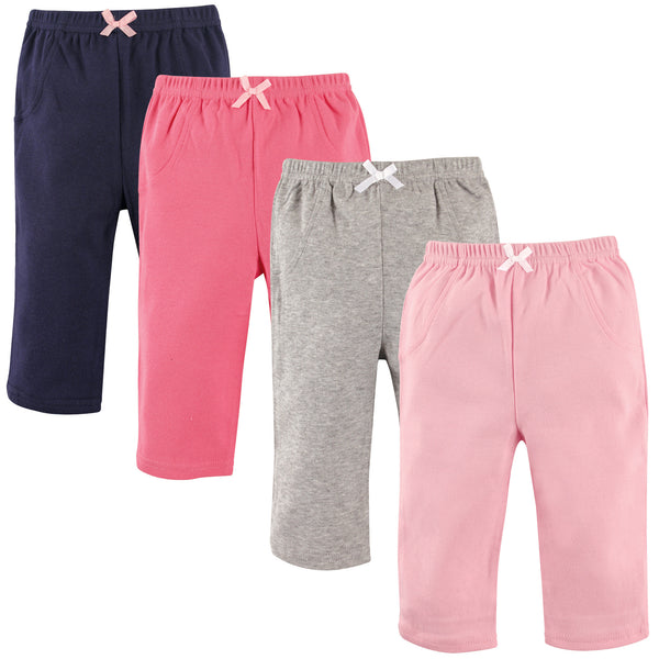 Luvable Friends Cotton Pants, Girl Solid