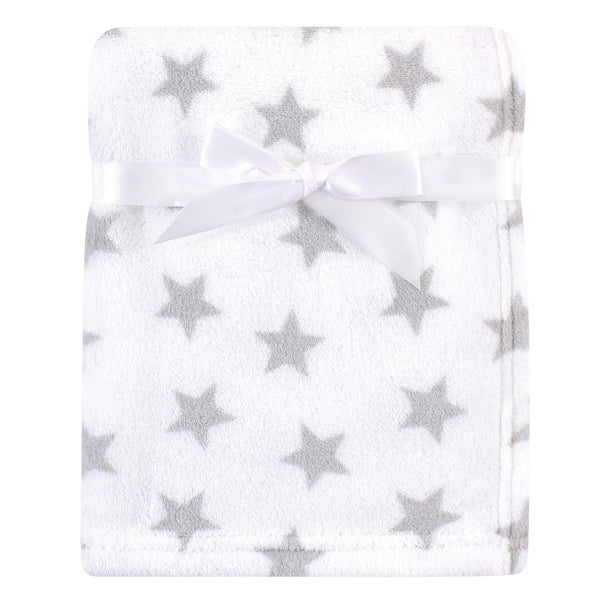 Luvable Friends Coral Fleece Blanket, Gray Star