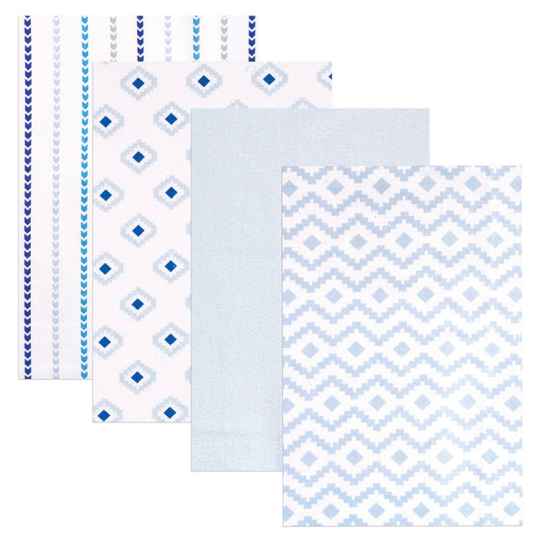 Hudson Baby Cotton Flannel Receiving Blankets, Boy Modern