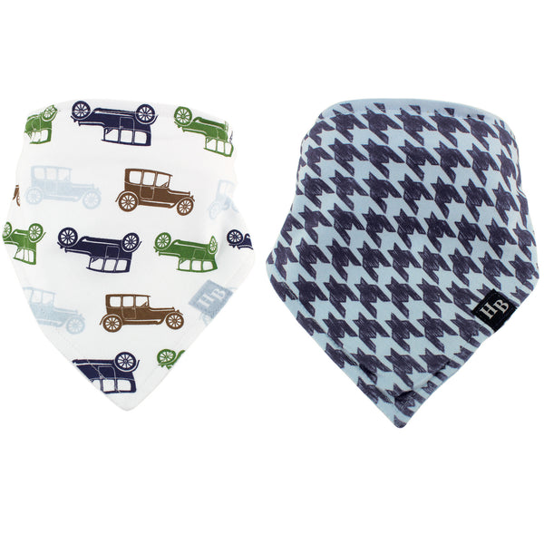 Hudson Baby Cotton Bandana Bibs, Car