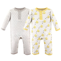 Hudson Baby Cotton Coveralls, Bee