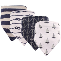 Hudson Baby Cotton Bandana Bibs, Sailboat