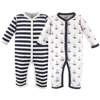 Hudson Baby Cotton Coveralls, Sailboat