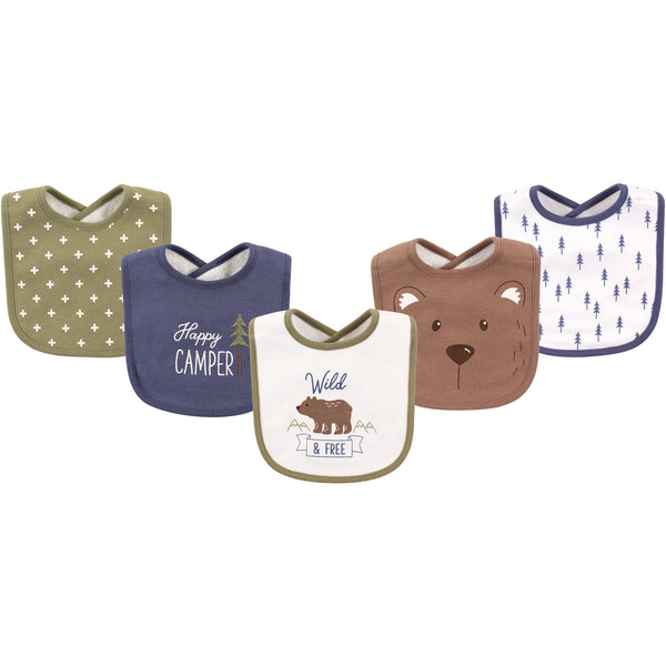 Hudson Baby Cotton Bibs, Bear