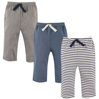 Hudson Baby Cotton Pants and Leggings, Navy Stripe