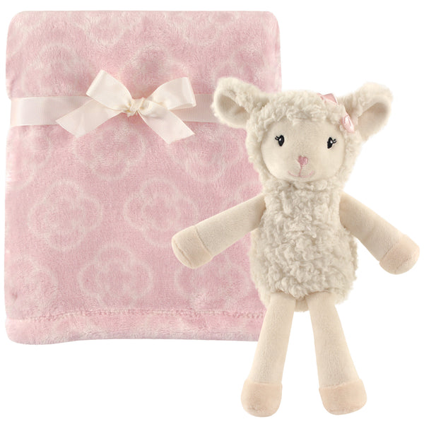 Hudson Baby Plush Blanket with Toy, Lamb