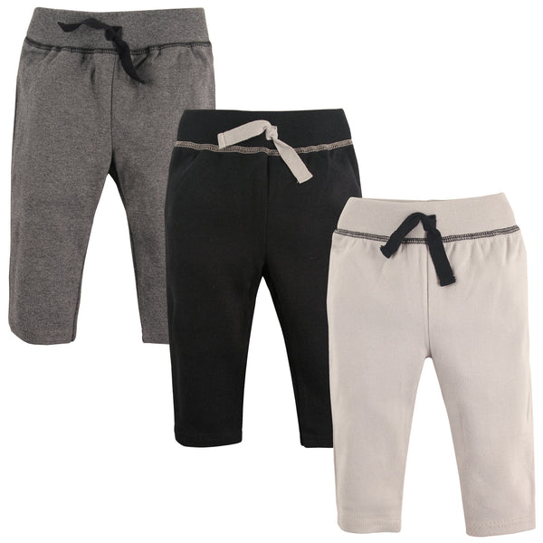 Hudson Baby Cotton Pants and Leggings, Black Gray