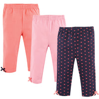 Hudson Baby Cotton Pants and Leggings, Hearts