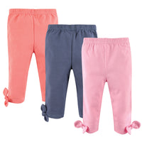 Hudson Baby Cotton Pants and Leggings, Light Pink Blue