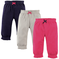 Hudson Baby Cotton Pants and Leggings, Pink, Gray Navy