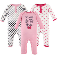 Hudson Baby Cotton Coveralls, So Many Bows