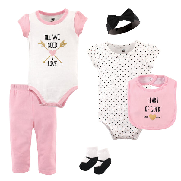 Hudson Baby Cotton Layette Set, Heart
