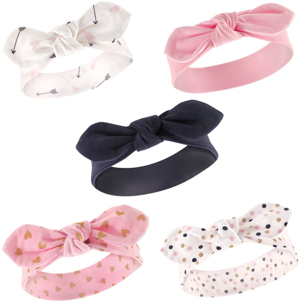 Hudson Baby Cotton and Synthetic Headbands, Arrows Hearts
