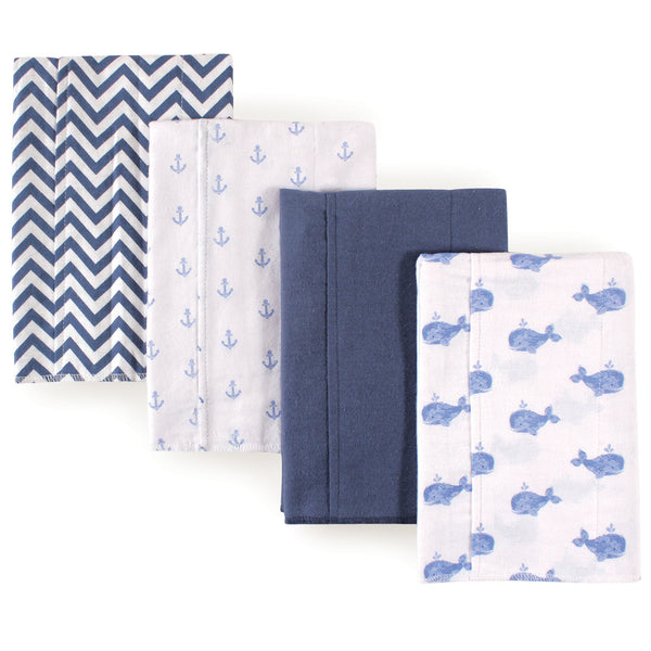 Hudson Baby Cotton Flannel Burp Cloths, Whale