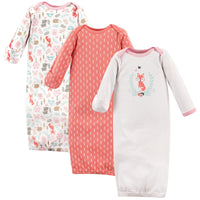 Hudson Baby Cotton Gowns, Woodland Fox