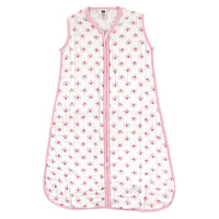 Hudson Baby Muslin Cotton Sleeveless Wearable Sleeping Bag, Sack, Blanket, Flower