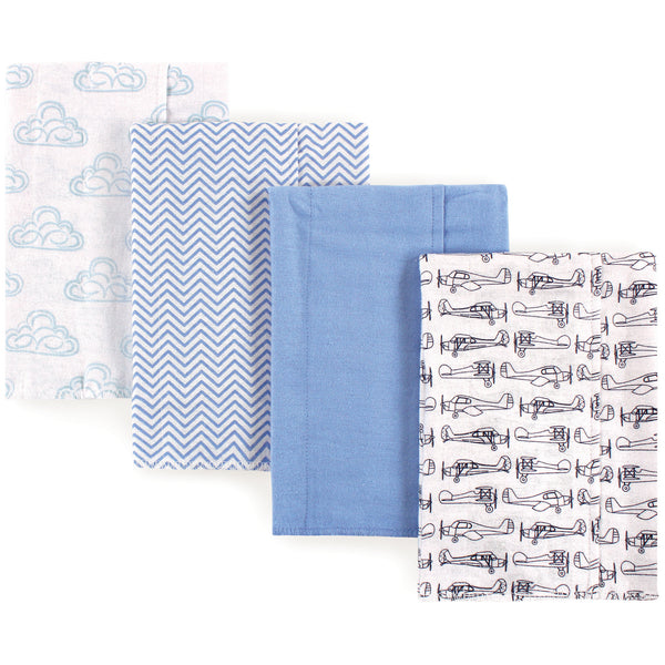Hudson Baby Cotton Flannel Burp Cloths, Airplane
