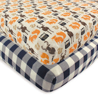 Hudson Baby Cotton Fitted Crib Sheet, Forest