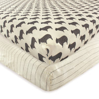 Hudson Baby Cotton Fitted Crib Sheet, Sheep
