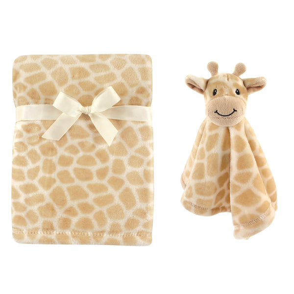 Hudson Baby Plush Blanket with Security Blanket, Giraffe