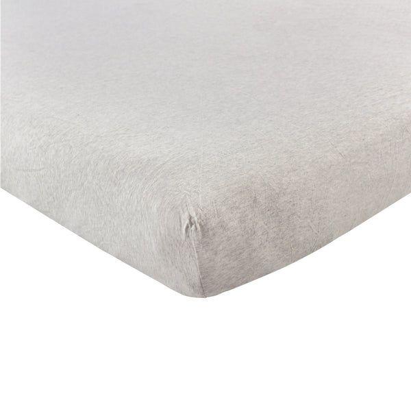 Hudson Baby Cotton Fitted Crib Sheet, Heather Gray