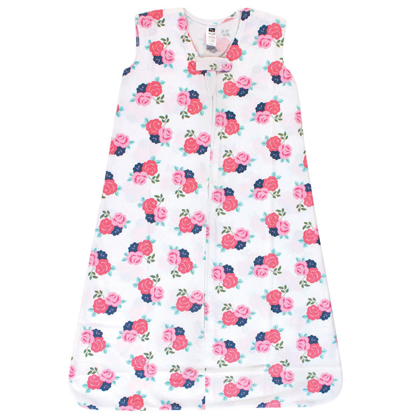 Hudson Baby Cotton Sleeveless Wearable Sleeping Bag, Sack, Blanket, Coral Floral