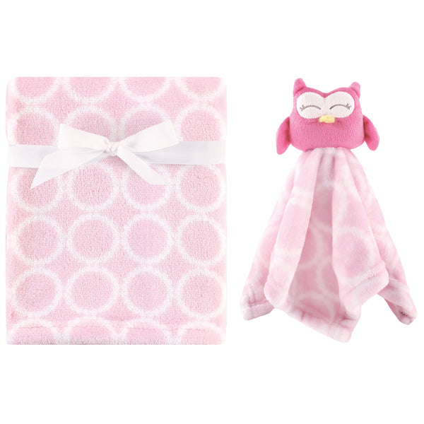 Hudson Baby Plush Blanket with Security Blanket, Girl Owl