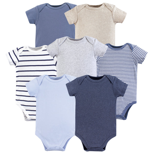 Hudson Baby Cotton Bodysuits, Boy Basic
