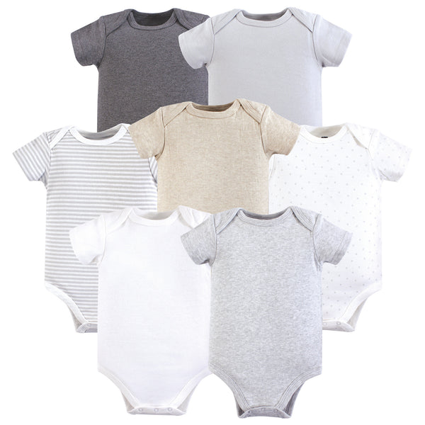 Hudson Baby Cotton Bodysuits, Neutral Basic