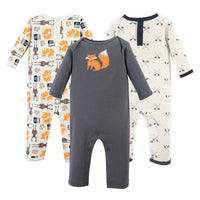 Hudson Baby Cotton Coveralls, Forest