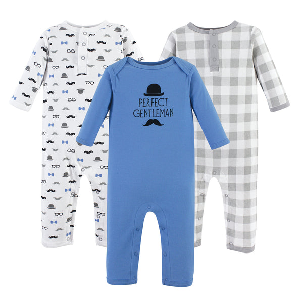 Hudson Baby Cotton Coveralls, Perfect Gentleman