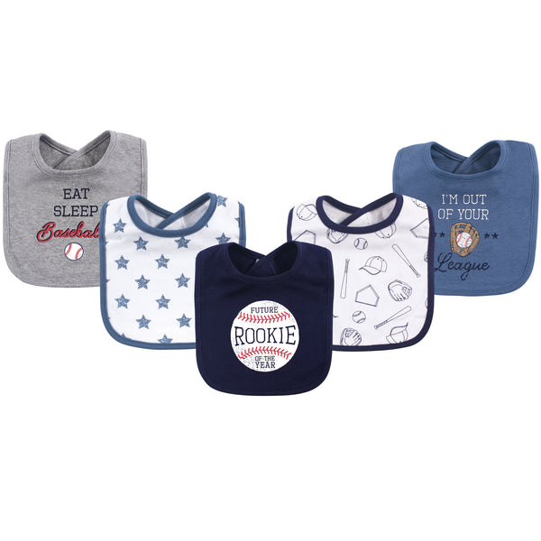 Hudson Baby Cotton Bibs, Baseball