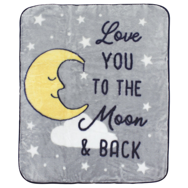 Hudson Baby High Pile Plush Blanket, Moon