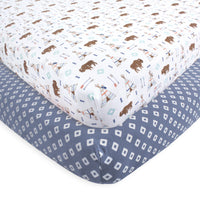 Hudson Baby Cotton Fitted Crib Sheet, Teepee