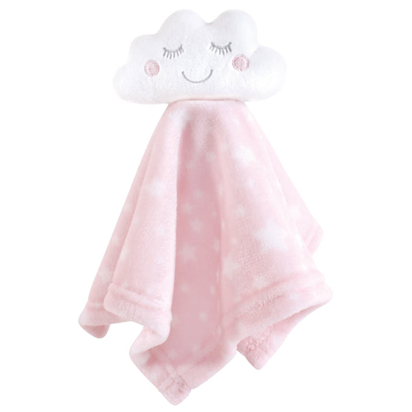 Hudson Baby Animal Face Security Blanket, Pink Cloud