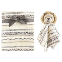 Hudson Baby Plush Blanket with Security Blanket, Lion